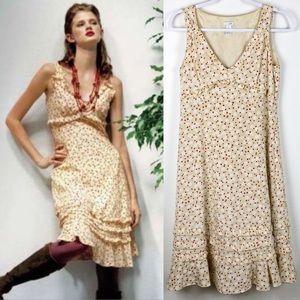 ANTHRO✨VTG Odille Cherry Blossom Silk Dress 6